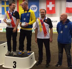 Bronze für Raphael Gharany zusammmen mit Rickard Nilsson, Schweden und den Coaches Stefan Deuer und Anders Larsson